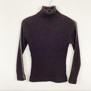Autumn Cashmere | Ribbed Turtleneck Sweater Size M